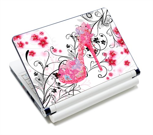 Butterflies High Heel Fashion Netbook Laptop Skin Sticker Reusable Protector Cover Case for 11.6