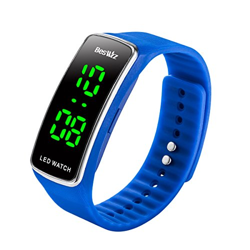Unisex Digital Kids Digital Watches Waterproof Outdoor Sports LED Wristwatch for Boys Girls Kids Teenager Blue