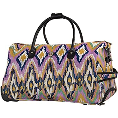 CALPAK Soho 21-inch Carry-On Rolling, Pink Ikat, One Size