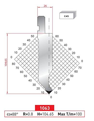 EURO - AMADA TYPE PRESS BRAKE PUNCH ES-1063 (Press Brake Punch)