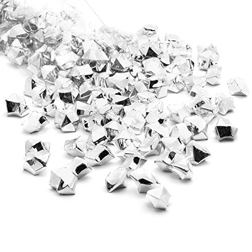 Acrylic Gems Ice Crystal Rocks for Vase Fillers, Party Table Scatter, Wedding, Photography, Party Decoration, Crafts by Royal Imports, 3 LBS (Approx 580-600 gems) - Silver]()