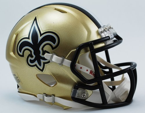 Riddell Mini Football Helmet - NFL Speed New Orleans Saints (Helmet Football Nfl Revolution)