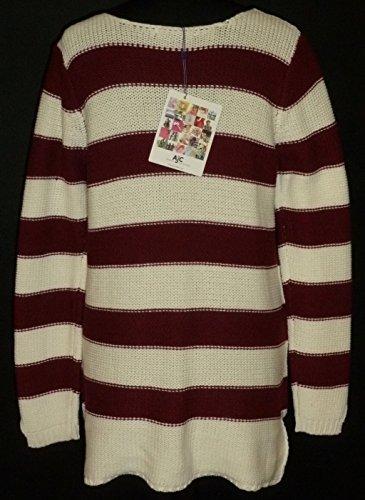 Jersey Suéter de rayas de AJC Burdeos / Blanco