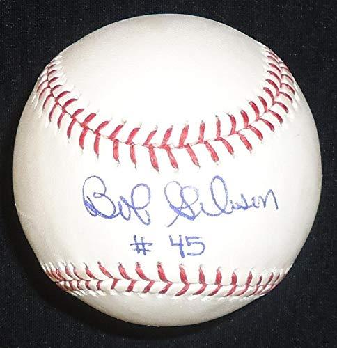 Bob Gibson Autographed Baseball - Official Major League Ball inscribed#45 - Autographed Baseballs Sports Memorabilia