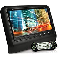 Pyle PLD93BK Headrest Vehicle 9-Inch Video Display Monitor CD/DVD Player USB/SD Readers HDMI Port