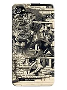 LarryToliver - Deluxe Stunning Book Carving Art Works Hard Case Cover for iphone 4/4s + Scr Stunning Book Carving Art Works #1