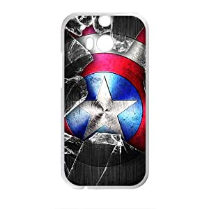 Capital America Design StylishHigh Quality Comstom Plastic case cover For HTC M8