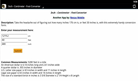 Amazoncom Inchcmfoot Converter Appstore For Android