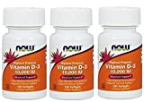 Cheap NOW Vitamin D-3 10,000 IU,120 Softgels (360 Softgels)