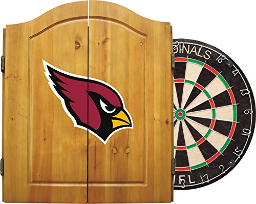 Imperial Officially Licensed NFL Merchandise: Dart Cabinet Set with Steel Tip Bristle Dartboard and Darts, Arizona ()