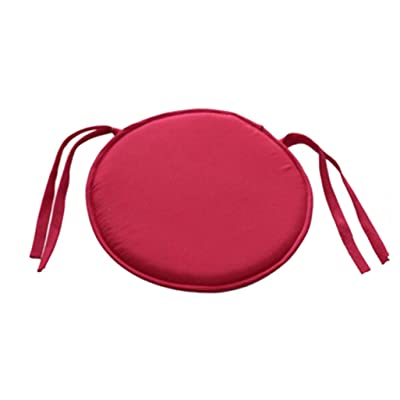 JONARO Pack of 2 Round Chair Pads for Outdoor Seat Indoor Chair Cushion Pads with Ties for Office Kitchen Dining Room Patio: Home & Kitchen