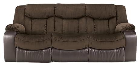 Ashley Furniture Signature Design - Tafton Reclining Sofa - Contemporary Style - Java & Amazon.com: Ashley Furniture Signature Design - Tafton Reclining ... islam-shia.org