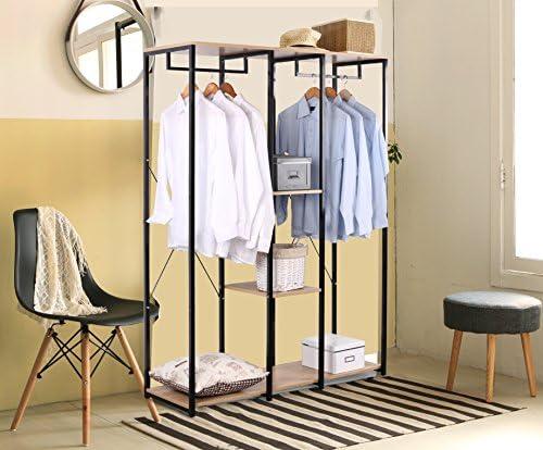 Sturdy Coat Stand Rack Storage Shoe Rack Shelves Organizer Black WOLTU Extra Large Clothes Rail