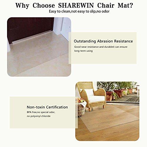 SHAREWIN Chair Mat for Hard Wood Floors - 36''x47'' Heavy Duty Floor Protector - Easy Clean  by SHAREWIN (Image #4)