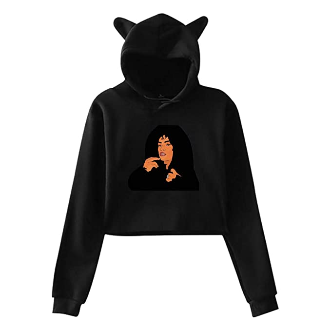 Mens Hoodie Sweatshirt Stefflon D-on Sweater Black