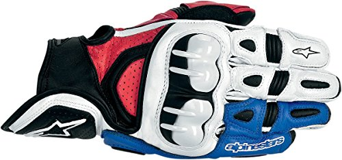 Alpinestars GPX Leather Motorcycle Gloves - Red/White/Blue - Large (Leather Alpinestars Gpx)