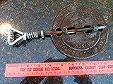 vintage 6' cast iron damper wood stove coal flue fire place part