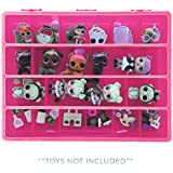 Life Made Better Organizer Box For Dolls and Accessories, Great Gift Idea For Big Sister and Lil Sister, Pink