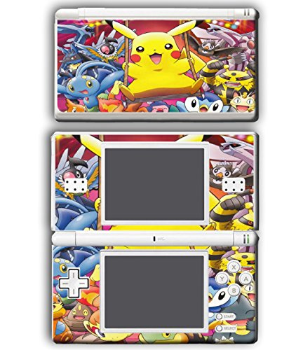 Pokemon Go Pikachu Cute Friends Piplup Meowth Video Game Vinyl Decal Skin Sticker Cover for Nintendo DS Lite System