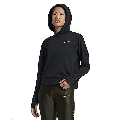 Nike Therma Women s Dri-Fit Running Hooded Sweatshirt Black AJ2769 010 ... 36b5c51cdb