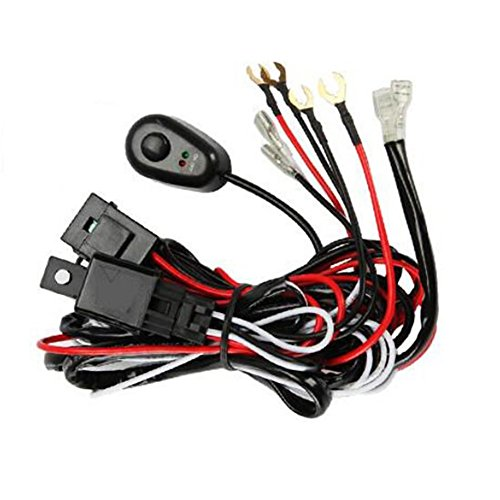 GZQ Wiring Harness LED Light Relay Loom Kit Fuse Relay On/Off Switch for Connecting Truck Car Driving Light Bar Spot Fog Light 12V 40A:
