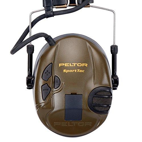 3M Peltor SportTac - Casque anti-bruit - Protection auditive pour la chasse contre les bruits de fusil - Atténuation 26… 4