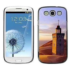 TopCaseStore / la caja del caucho duro de la cubierta de protección de la piel - Nature Lighthouse Beach - Samsung Galaxy S3 I9300