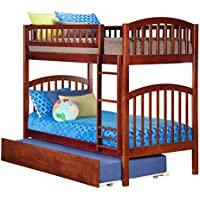 Richland Bunk Bed with Urban Trundle, Twin Over Twin, Antique Walnut