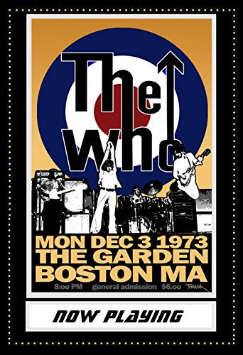 (the Who Musician Concert Poster 13 X 19 Wtih Marquee Background Novelty poster)