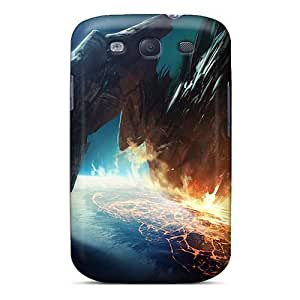 New SiQ10726zsBP Video Games Outer Space Earth Leviathan Skin Cases Covers Shatterproof Cases For Galaxy S3