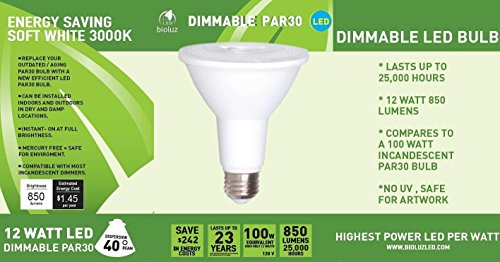 Bioluz-LED-PAR30-12w-100w-Equiv-3000k-850-Lumen-Dimmable-Lamp-UL-Listed