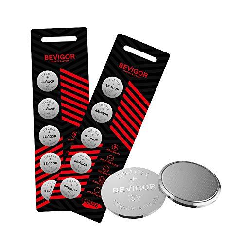 Bevigor CR2016 Lithium 3V Coin Battery