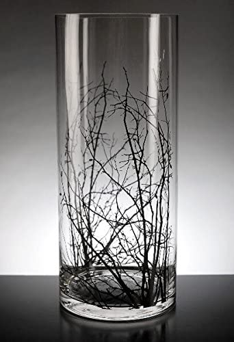 Wayfair Birch Tree Branch Clear Glass Cylinder Vase 14in