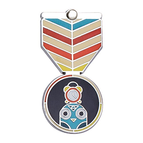 [PERFECT ATTENDANCE Award: Greeting Card & Gift (Enamel Lapel Pin / Necklace Charm) for Students by Merit Medals] (Attendance Award Pin)