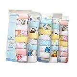 CuteOn Baumwolle Weiche Baby-Waschlappen Baby-Handtücher, Packung mit 8, 11.8 'x 11.8' 01-Junge