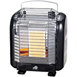 Greenwood Cassette cylinder type Portable heater Indoor use GCP-221 (Black)
