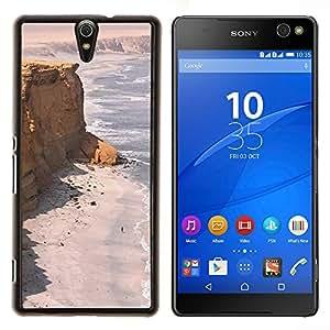 - cliffs seashore desert ocean sand beach/ Duro Snap en el tel??fono celular de la cubierta - Cao - For Sony Xperia C5 Ultra