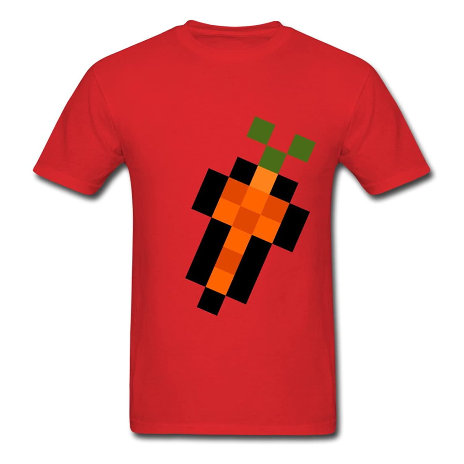 AneSwing Pixel Carrot Fitness Men T Shirt
