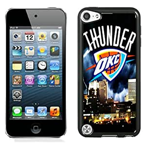 Okc Thunder Black Abstract Design Custom iPod Touch 5 Case