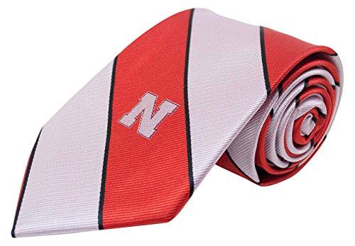 Red Ncaa Tie - NCAA Nebraska Cornhuskers Traditional Stripe Necktie, Red, One Size
