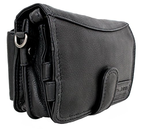 (Travel Wallet For Men Women Organizer Genuine Leather Purse Wrist Bag Crossbody Handmade Vintage With Coin Phone Pocket black Cairo)