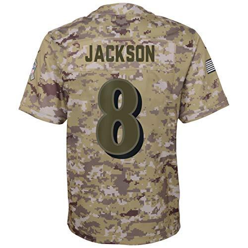 Intuit Fast Mens Lamar_Jackson_8_Camo_Salute Fans Replica Jersey Sportswear Custom Football Game Limited Elite Legend Jerseys