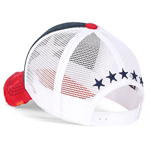 Cap ililily azul marino Cotton Black y Star Embroidery White rojo Hat Baseball Trucker qTqg8AOrW