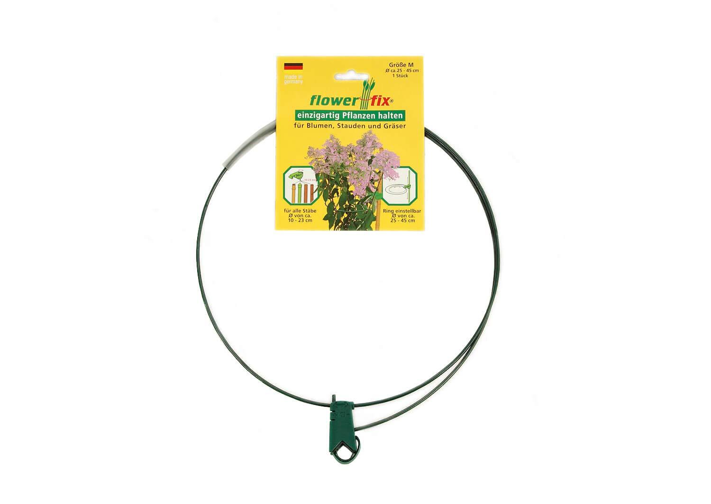 Flowerfix Supporto per Piante, Regolabile Individualmente, Robusto e Resistente alle intemperie, Perfetto per arbusti, Fiori e Erba di Ø 25 – 75 cm. Made in Germany.