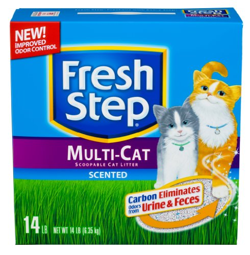 Fresh Step Multi Cat Scented, 14-Pound Boxes (Pack of 3), My Pet Supplies
