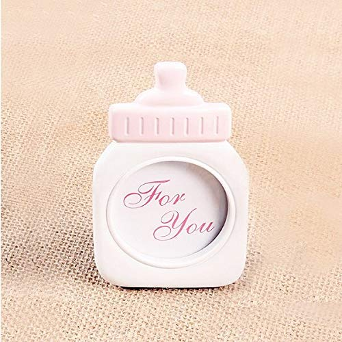 Glass figurines Picture Frame - Baby Bottle Shape Plastic Photo Frame Home Decor Photo Collection Sweet Kids Birthday Supplies Room Decorations
