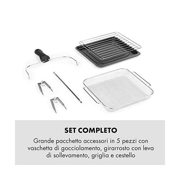 KLARSTEIN AeroVital Easy Touch - Friggitrice ad Aria Calda, Forno ad Aria Calda, Mini Forno, 1700W, XXL: 14L, 16… 7
