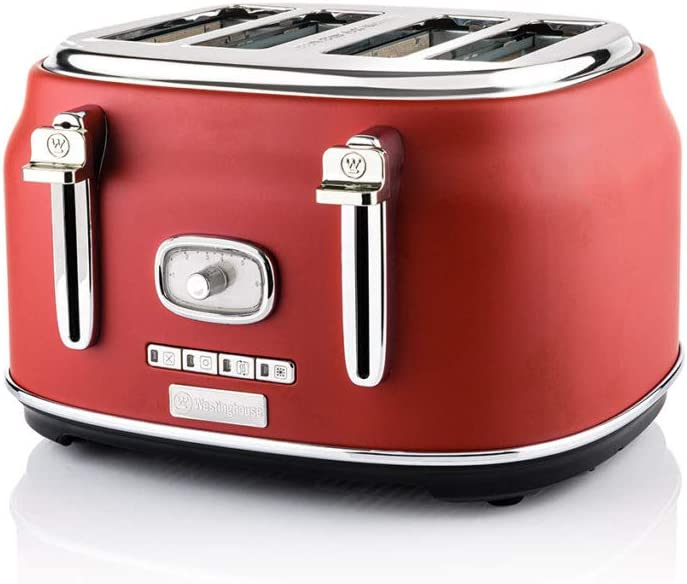 Westinghouse Retro 4 Slice Toaster (Red)