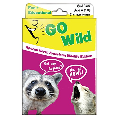 Tree-Free Greetings North American Wildlife Go Wild Card Game for Ages 4 and Up (KG13403)