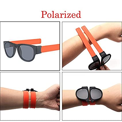 d2c693381b Amazon.com   Unisex UV400 Polarized Folding Bracelet Glasses ...
